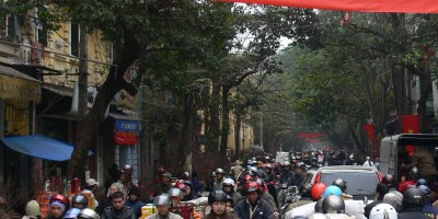 Tet traffic in Old Quarter 2010