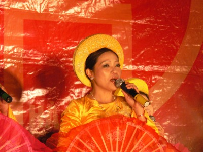 Tet performance - Hoan Kiem Lake area, Hanoi, Vietnam.