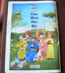 Vinamilk wishes Chuc Mung Nam Moi - Happy New Year for 2010 in a magazine !!