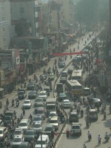 Busy roads of Hanoi