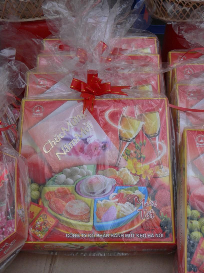 Tet - Sampler box makes a good gift, Hanoi, Vietnam.