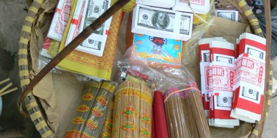 Temple supplies - incense and money to burn !!