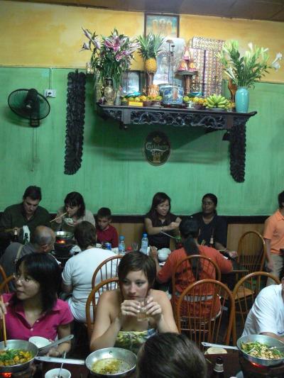 Offering at Cha Ca La Vong Restaurant, 14 Chả Cá, Hoàn Kiếm, Hà Nội, Vietnam