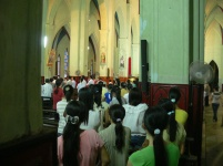 Early evening service at St Joseph's Cathedral, Hanoi, Vietnam