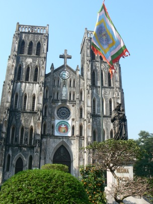 St Joseph's Cathedral from Nha Tho Street, Hanoi.