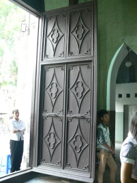 The decorative doors are one of its features - St Joseph's Cathedral, Hanoi.