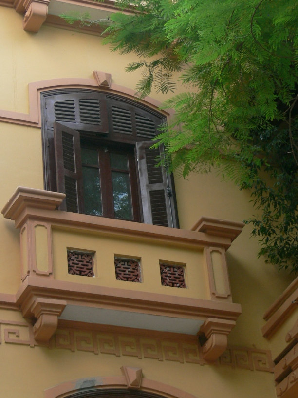 Decorative balcony.
