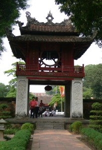 Temple of Literature- Văn Miếu The three Roofed Archway represents: Past - Present - Future