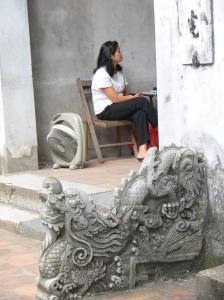 Temple of Literature - Văn Miếu - Entrance way - Lion - gate guardian.