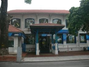 ANZ bank on Lê Thái Tổ Street opposite Hoan Kiem Lake, Hanoi, Vietnam.