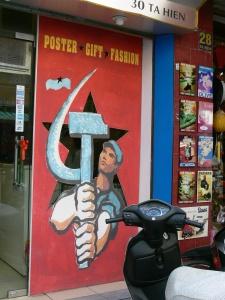 Propaganda posters have become the new art !! Hanoi, Vietnam