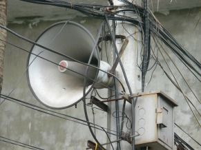 They are not called a loud speaker for nothing !! Hanoi, Vietnam.