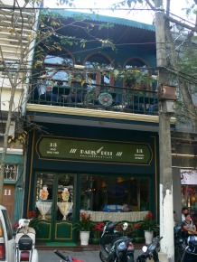 Paris Deli - a great selection of cakes and pasteries plus main meals - 13 Church Street (13 Pho Nga Tho), Hanoi - near the Cathedral.