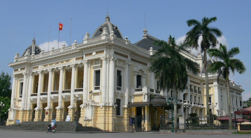 Hanoi Opera House - 1 Trang Tien St, Hanoi, Vietnam. Built between 1901 and 1911 by the French Colonial Administration. When in Hanoi, book into a concert.