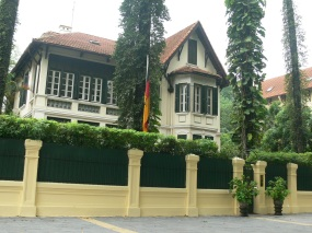 This elegant European looking building in Hanoi is now the home of an Ambassador (2010) to Vietnam.