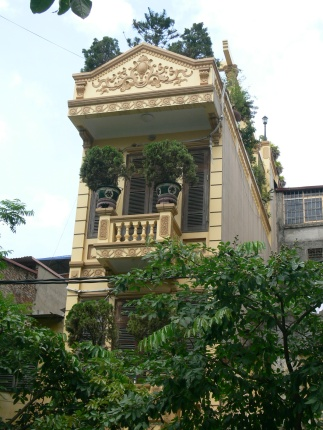 Decorative Frontage on house in Hanoi.