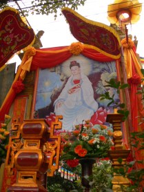 At a Temple on Ly Thuong Kiet Street, Hanoi they celebrate Vesak Day (Buddha's Birthday)