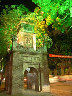 Hoa Phong Tower (Favorable Winds Tower), Dinh Tien Hoang Street, Hanoi, is the only remaining structure from the Bao An Pagoda which is where the Post Office stands today.