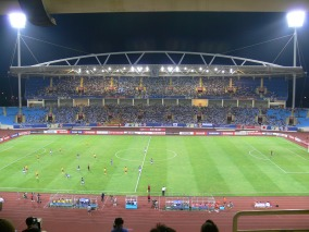 My Dinh Stadium, built in 2003 with seating for 40,000 spectators + home of the Vietnam National Football Team.