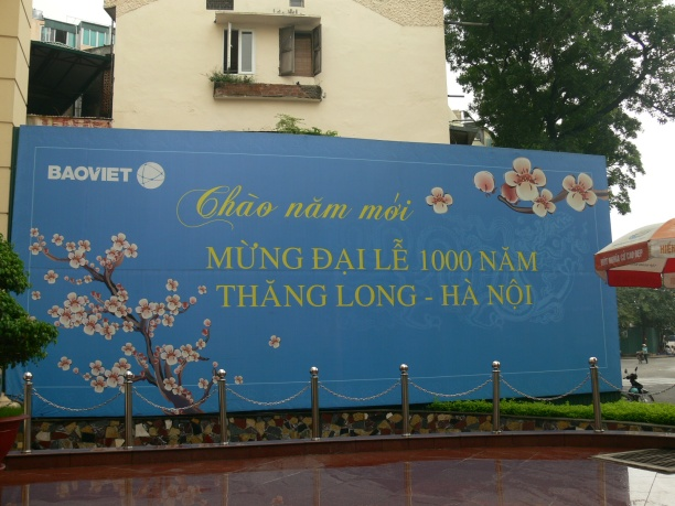 Baoviet bill board, Hanoi 1000 years celebration