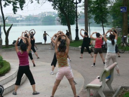 Around Hoan Kiem Lake at least 2 different Aerobics classes are held every morning, plus in almost every park in Hanoi.