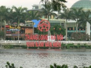 2010 Sign - Thang Long - Hanoi, 1000 Years of Culture, on Conference Hall, Truc Bach Lake, Hanoi