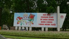 2010 - sign board celebrating Hanoi 1000 years