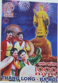 Poster celebrating Ly Thai To for 1000 years in 2010, Hanoi, Vietnam.
