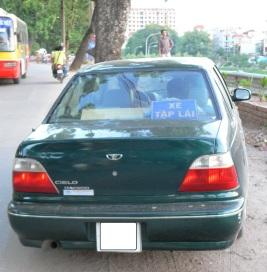 XE TẬP LÁI - learner driver - nice parking, Hanoi, Vietnam