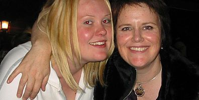 2005 - Danielle came and stay in Bangkok for 6 weeks the year before she died. Us out on the town.