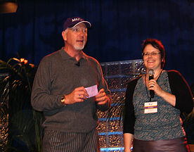 2008 Christina on stage with Mark Victor Hansen from Chicken Soup for the Soul - USA
