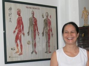 Dr Huong in her Hanoi practice (2009).
