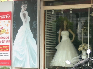 The wedding business is huge, so the choice of gowns and prices meets every every pocket.