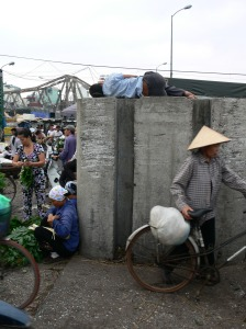 2. Long Bien Market Gates - How he got up there I am not sure ??