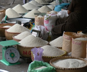 Hanoi rice wholesaler has a huge selection of rice for sale.