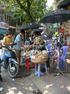 Drive in smoke shop in Hanoi