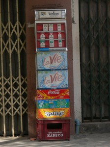 What do you want, cigarettes, water, Coca Cola, Sprite or beer?