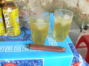 Vietnamese iced tea + Lighter