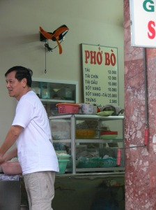 Phở Bò / Pho Bo = Beef Noodle Soup, price list from 1997, things have gone up in the last few years.