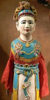 Elaborate Vietnamese water puppet from Ethnology Museum display