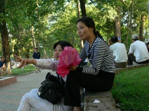 2 Vietnamese Street Photographers at Hoan Kiem Lake