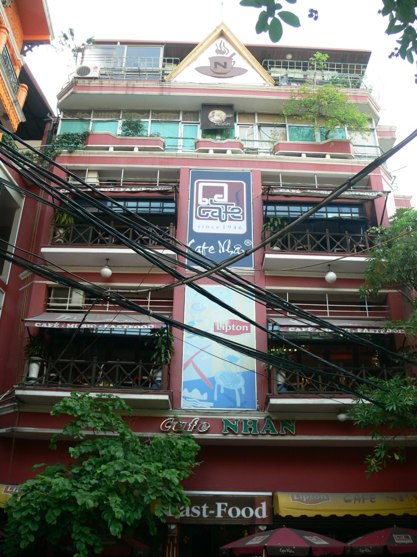 Cafe Nhan in Hanoi - 4 stories