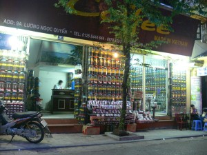 At 9A Luong Ngoc Quyen Street in Hanoi, Coffee shop has a huge selection of coffees.