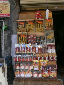 Coffee for sale on the street