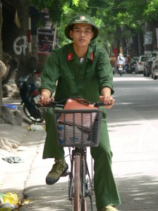 Vietnamese young army officer.
