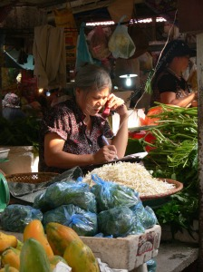 In Chau Long Market - Yip, I have got, will have it to you in a jiffy !!