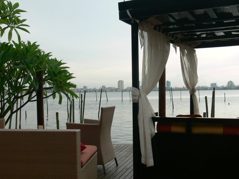 Intercontinental Hanoi Westlake - looking at the lake - good place for sunset cocktails.