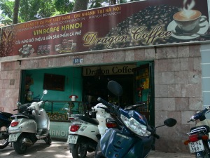 Hanoi Cafe's are very convenient as just park outside and walk in or someone will park your bike for you.