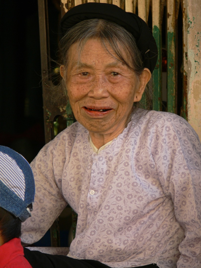 Vietnamese elderly lady.