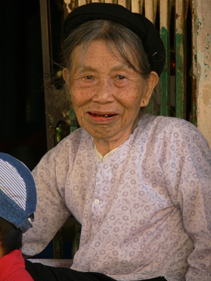Vietnamese elderly lady.